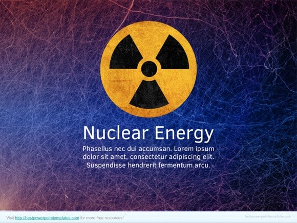 nuclear energy powerpoint template - free!, Powerpoint templates