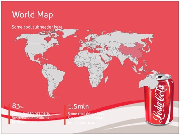 coca cola powerpoint template - free!, Modern powerpoint