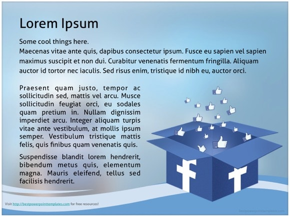 Facebook powerpoint template free facebook powerpoint templates pronofoot35fo Gallery