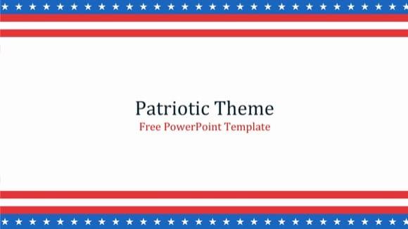patriotic powerpoint template - free!, Modern powerpoint