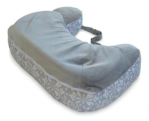 41DpxooqtUL - Boppy Two-Sided Breastfeeding Pillow, Kensington/Gray