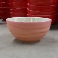 ชามลายคลื่น 4.5″ สีชมพู