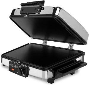 BLACK+DECKER Thin Waffle Maker/ Indoor Grill/Griddle
