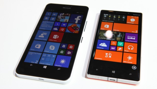 Lumia 640 XL and Lumia 930 side by side