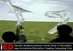 Kansas students explore virtual dinos in the state's new Immersive Education Creative Computing Club