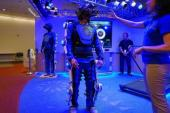 A futuristic suit that gives you a taste of old age