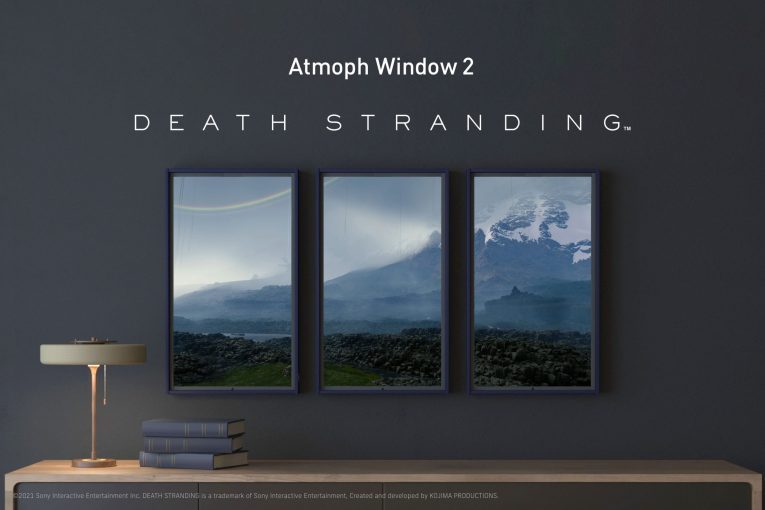 """The virtual game world of """"DEATH STRANDING"""" by KOJIMA PRODUCTIONS can now be enjoyed on Atmoph Window 2"""
