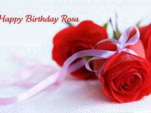 happy birthday with red rose facebook profile pictures