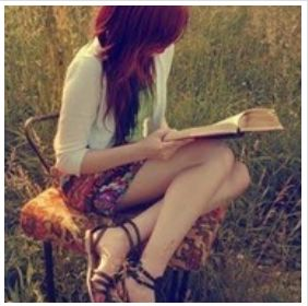 girl read book profile picture for facebook