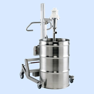 Drum with drum pump and pump lift