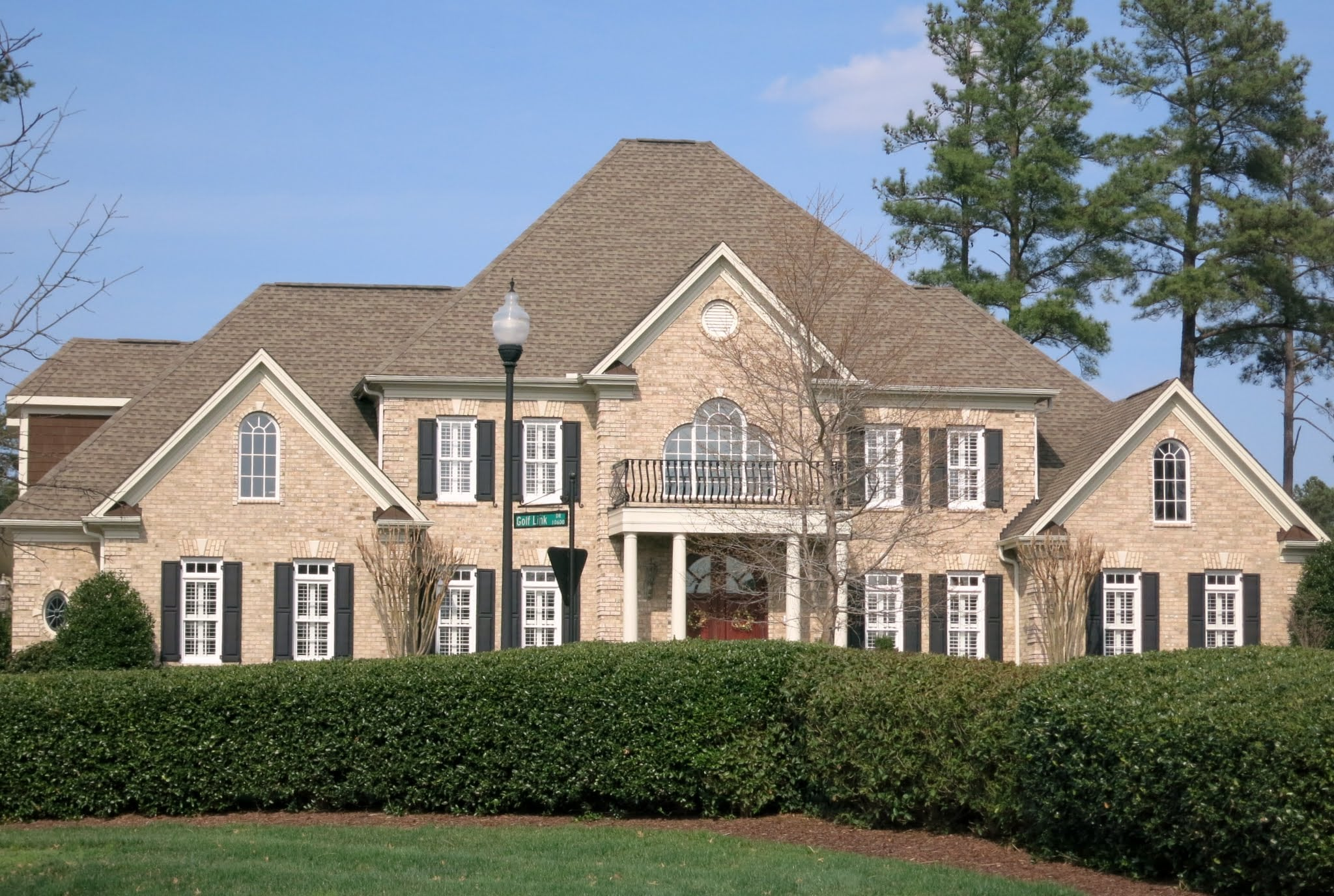 Golf Link Dr. Near Entrance of Brier Creek Country Club, Best Raleigh Neighborhoods, North Raleigh, Brier Chapel