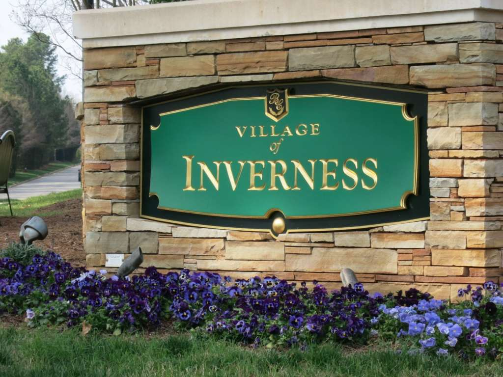 Village of Inverness Entrance, Brier Creek, Best Raleigh Neighborhoods, North Raleigh, Brier Creek
