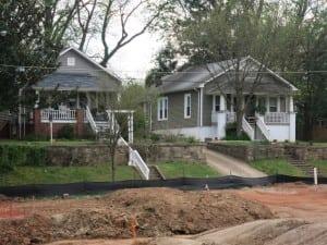 Houses on Sasser Facing Oakdale at Mordecai, Best Raleigh Neighborhoods, Inside-the-Beltline, Mordecai