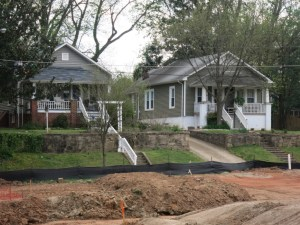 Houses on Sasser Facing Oakdale at Mordecai, Best Raleigh Neighborhoods, Inside-the-Beltline, Mordecai
