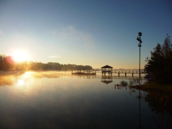 Lake Norman Dock at sunrise
