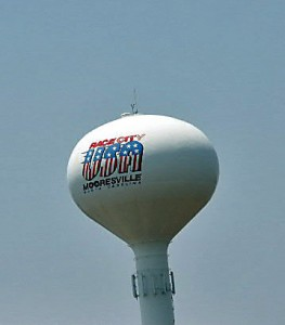 Mooresville's Race City USA water Tower
