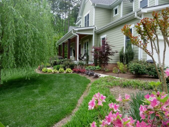 Lake Norman home's garden