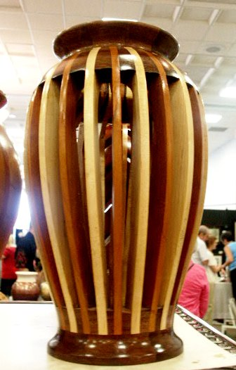 Gorgeous Hand-Made wood vase