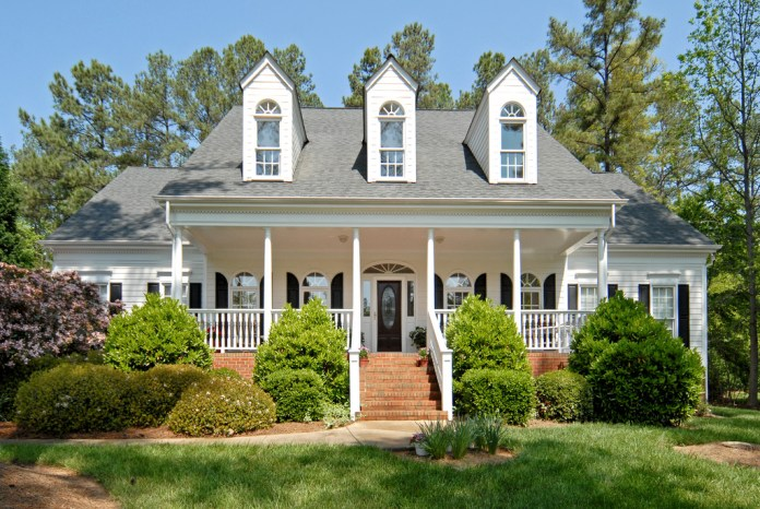 Lake Norman home with rocking chair front porch