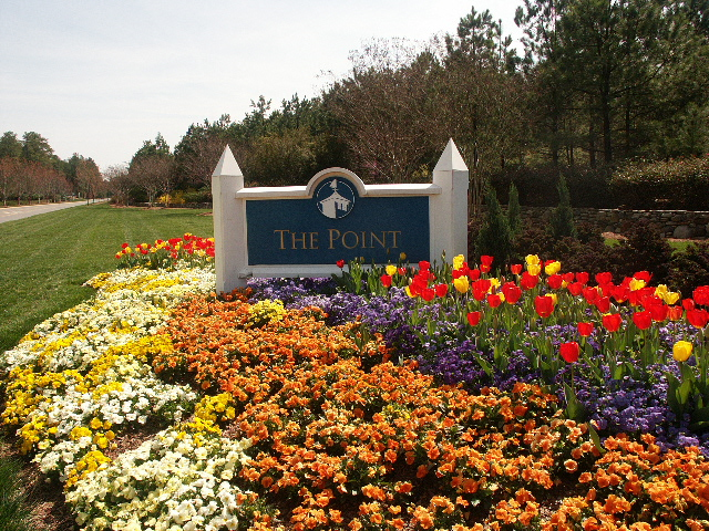 The Beautiful Entrance to The Point Lake Norman in Spring