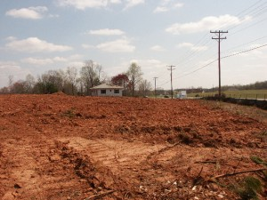 Red Clay at construction along Brawley School Rd