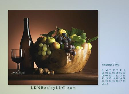 Lake Norman Real Estate's Nov09Wallpaper Calendar Preview