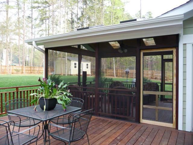 Lake Norman screened porch