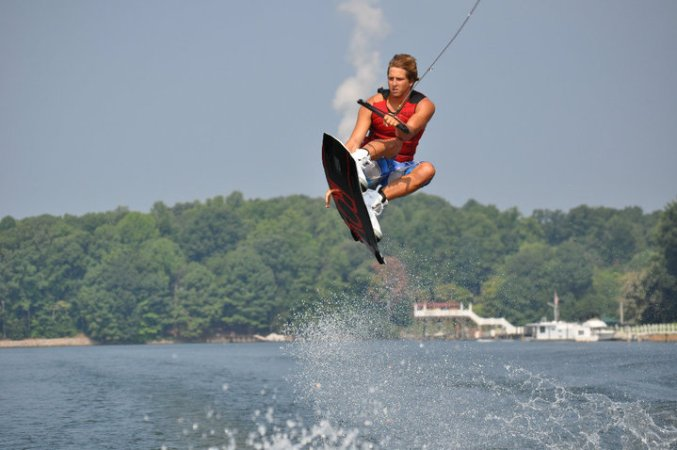 Wakeboarding competition on Lake Norman