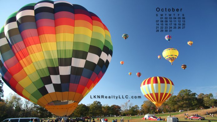 Lake Norman Hot Air Balloons Calendar Photo