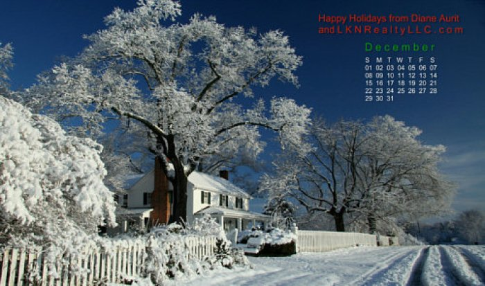 Photo of ThPhotograph of an historic home in the Lake Norman area in the snow