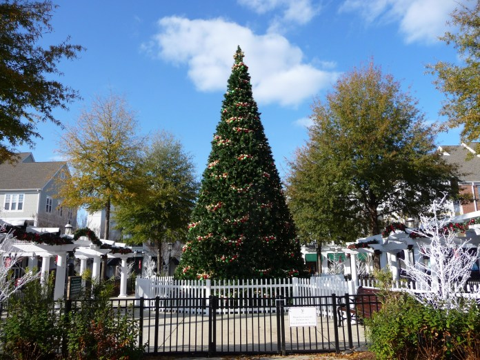 Christmas tree at Birkdale Village in Lake Norman