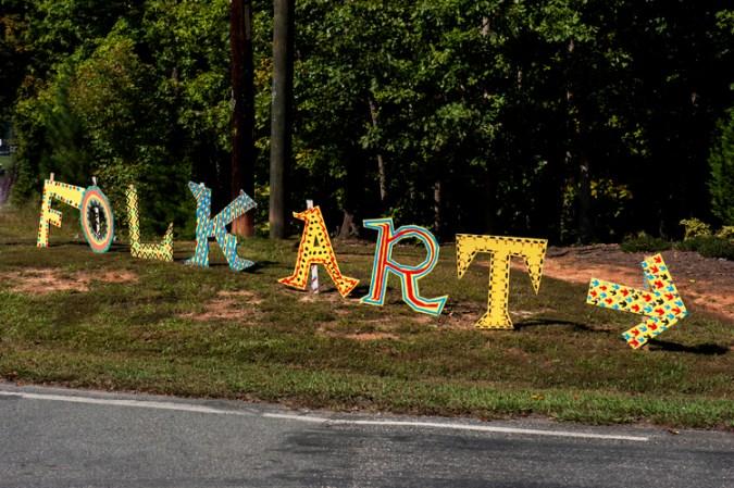 Lake Norman Folk Art Festival is this way!