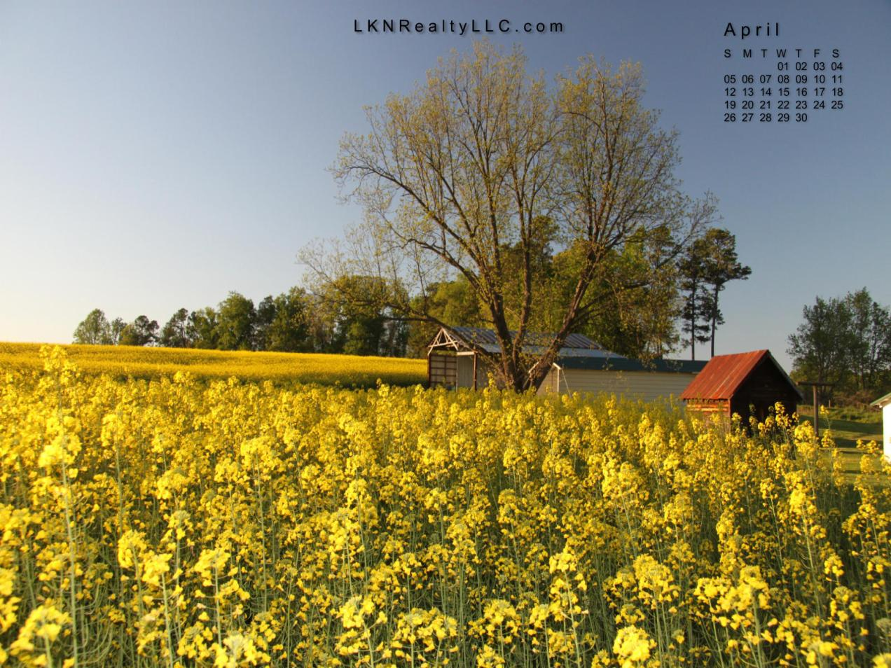 Lake Norman Real Estate's April 2015 Desktop Calendar