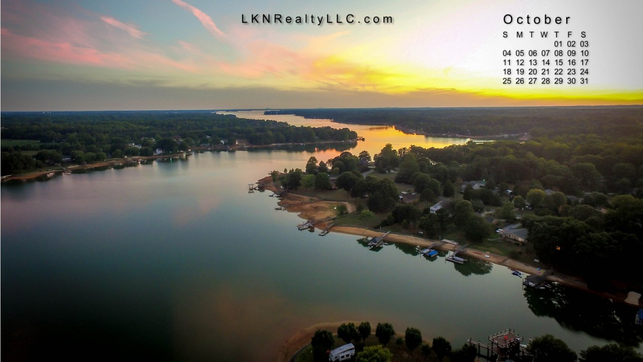 Lake Norman Desktop Calendar October 2015