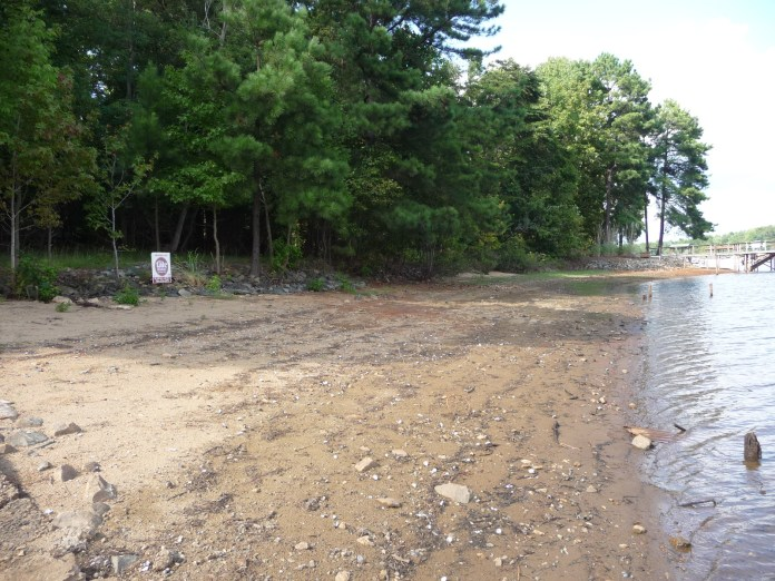 Lake Norman Shoreline during the drought