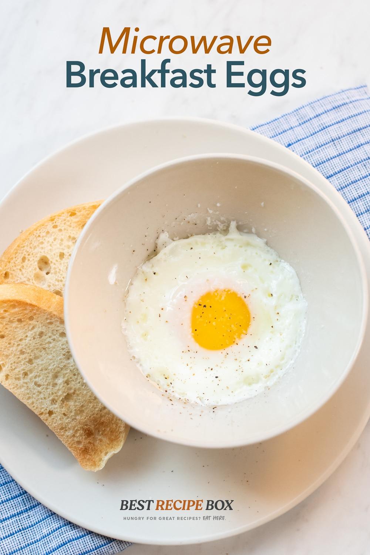 microwave fried eggs breakfast