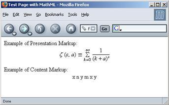 إعداد النصوص الرياضية باستخدام MathML. الدورات الدراسية: MathML (لغة الترميز  الرياضي) أمثلة Mathml