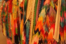 Cranes sent by schools from all over the world, Nagasaki Atomic Bomb Museum
