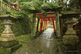 The path towards Wakamiya Inari shrine, Nagasaki.
