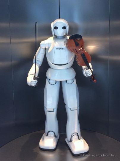Robot at the Toyota factory, Japan
