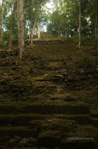 The top structure of the massive pyramid of La Danta