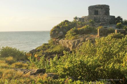 The ruins of Tulum overlooking the Caribbean Sea