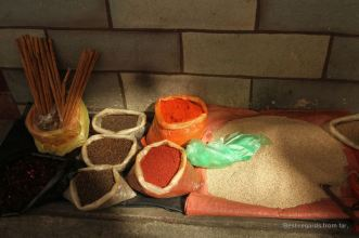 Colourful spices on the market of Totonicapan, Guatemala