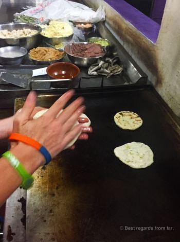 Making pupusas, Ataco, El Salvador