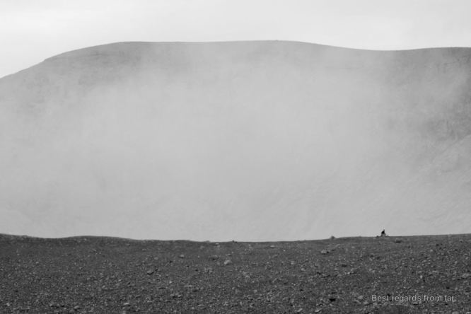 One of us on the edge of the crater of the Telica volcano, Nicaragua