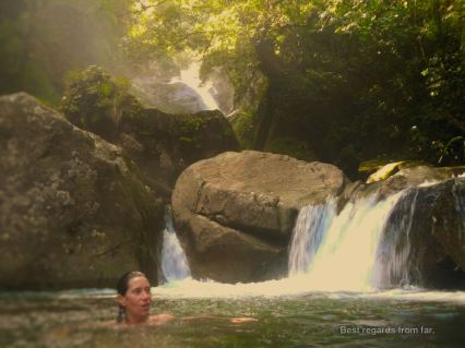 Enjoying the stunning swimming holes of Santa Fé, Panama