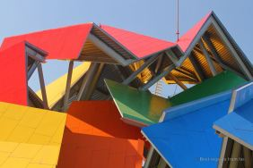 The roof of the extravagant Biomuseo by Frank Gehry, Panama City