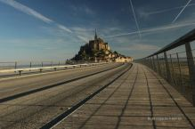 Perspective on the Mont Saint Michel, France