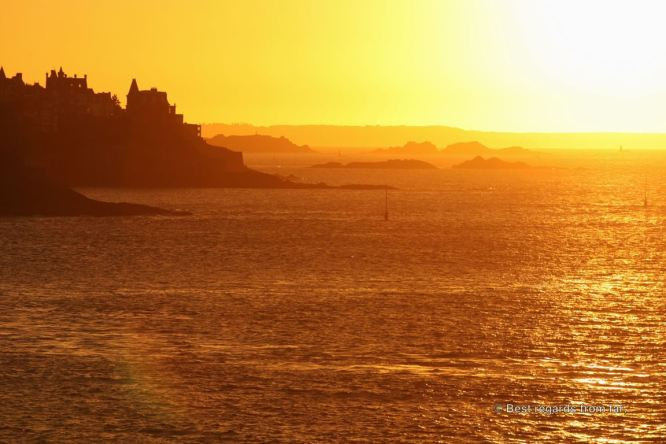Sunset from Saint Malo, France
