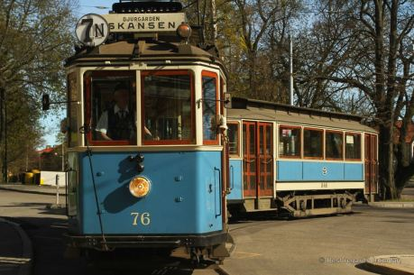 Getting to Skansen with the historical tram, Stockholm